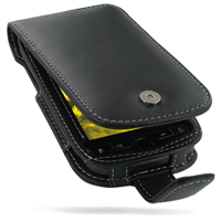 T-Mobile HTC myTouch 4G Leather Flip Case (Black) PDair Premium Hadmade Genuine Leather Protective Case Sleeve Wallet