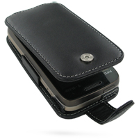 Leather Flip Case for T-Mobile HTC Touch Pro2 (Black)