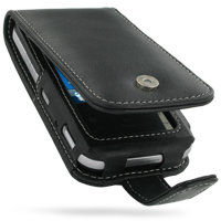 Leather Flip Case for Toshiba Portege G810 (Black)