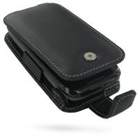 Leather Flip Case for Verizon Wireless HTC Touch Pro2 (Black)
