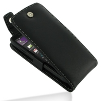Leather Flip Top Case for Acer Iconia Smart S300 (Black)