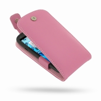 Leather Flip Top Case for Acer Liquid E1 Duo V360 (Petal Pink)