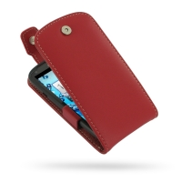 Leather Flip Top Case for Acer Liquid E1 Duo V360 (Red)