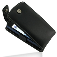 Leather Flip Top Case for Acer Liquid mini E310 (Black)