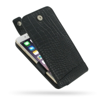 10% OFF + FREE SHIPPING, Buy PDair Quality Handmade Protective iPhone 6 | iPhone 6s Genuine Leather Flip Top Case (Black Croc Pattern) online. You also can go to the customizer to create your own stylish leather case if looking for additional colors, patt