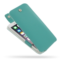 Leather Flip Top Case for Apple iPhone 6 Plus | iPhone 6s Plus (Aqua)