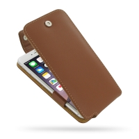 Leather Flip Top Case for Apple iPhone 6 Plus | iPhone 6s Plus (Brown)
