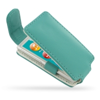Leather Flip Top Case for Apple iPod nano 8th / iPod nano 7th Generation (Aqua)
