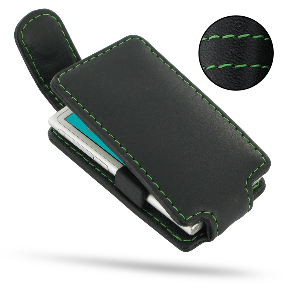 10% OFF + FREE SHIPPING, Buy Best PDair Quality Handmade Protective iPod nano 8th / nano 7th Genuine Leather Flip Top Case (Green Stitch). You also can go to the customizer to create your own stylish leather case if looking for additional colors, patterns