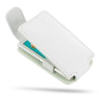 iPod nano 8th / nano 7th Leather Flip Top Case (White) PDair Premium Hadmade Genuine Leather Protective Case Sleeve Wallet