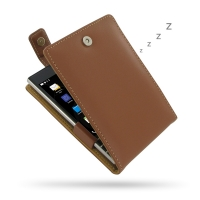 Leather Flip Top Case for BlackBerry Passport (Brown)