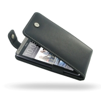 Leather Flip Top Case for HTC Desire 700
