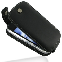 Leather Flip Top Case for HTC MyTouch 4G Slide (Black)