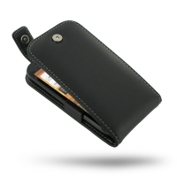 HTC One SV Leather Flip Top Case PDair Premium Hadmade Genuine Leather Protective Case Sleeve Wallet