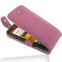 Leather Flip Top Case for HTC One X+ Plus (Petal Pink)