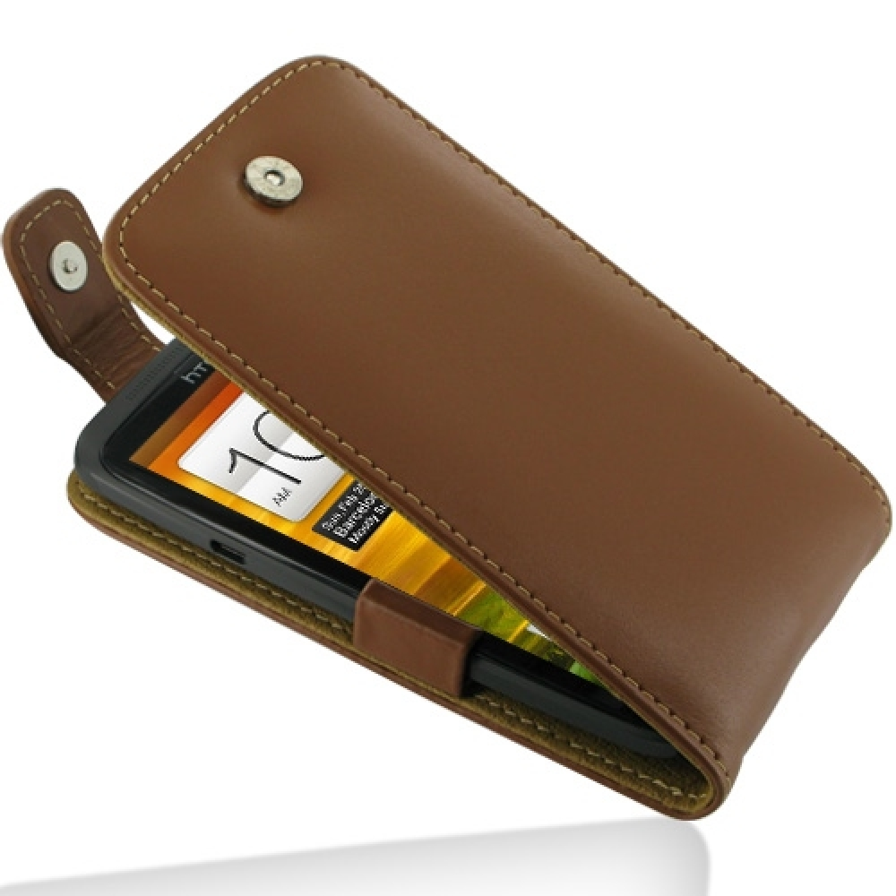 huge selection of c9f60 123f4 HTC One X / One XL Leather Flip Top Case (Brown) :: PDair Sleeve Pouch
