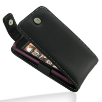 Leather Flip Top Case for HTC Rhyme S510b/HTC Bliss (Black)