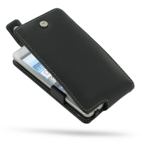 Huawei Ascend D2 Leather Flip Top Case PDair Premium Hadmade Genuine Leather Protective Case Sleeve Wallet
