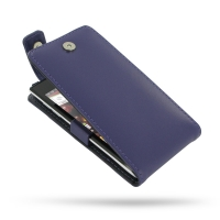 Huawei Ascend P1 U9200 Leather Flip Top Case (Purple) PDair Premium Hadmade Genuine Leather Protective Case Sleeve Wallet
