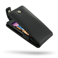 Huawei Ascend P1 XL Leather Flip Top Case PDair Premium Hadmade Genuine Leather Protective Case Sleeve Wallet