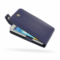 Huawei Honor 2 / Ascend G600 Leather Flip Top Case (Purple) PDair Premium Hadmade Genuine Leather Protective Case Sleeve Wallet