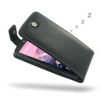 Nexus 5 Leather Flip Top Case PDair Premium Hadmade Genuine Leather Protective Case Sleeve Wallet