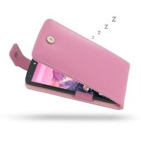 Nexus 5 Leather Flip Top Case (Petal Pink) PDair Premium Hadmade Genuine Leather Protective Case Sleeve Wallet