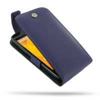 Nexus 4 Leather Flip Top Case (Purple) PDair Premium Hadmade Genuine Leather Protective Case Sleeve Wallet
