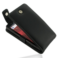 Motorola Droid Bionic Leather Flip Top Case (Black) PDair Premium Hadmade Genuine Leather Protective Case Sleeve Wallet