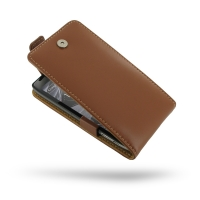 Leather Flip Top Case for Motorola Droid Razr Maxx HD (Brown)