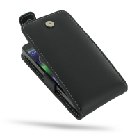 Motorola Electrify M Leather Flip Top Case PDair Premium Hadmade Genuine Leather Protective Case Sleeve Wallet