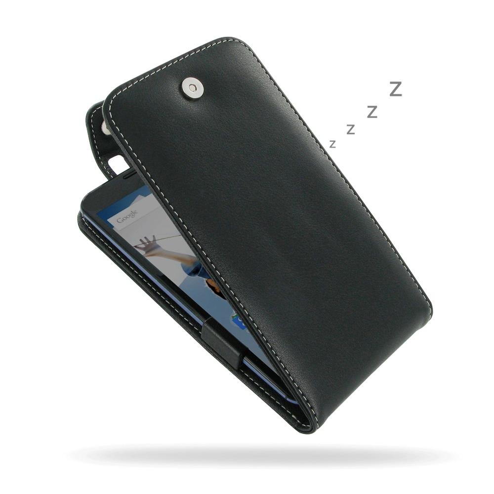 competitive price 19e22 46ff1 Leather Flip Top Case for Motorola Google Nexus 6 XT1103