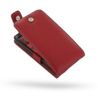 Leather Flip Top Case for Motorola Razr i XT890 (Red)