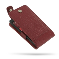 Leather Flip Top Case for Motorola Razr i XT890 (Red Crocodile Pattern)
