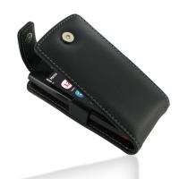 Leather Flip Top Case for Nokia 500 (Black)