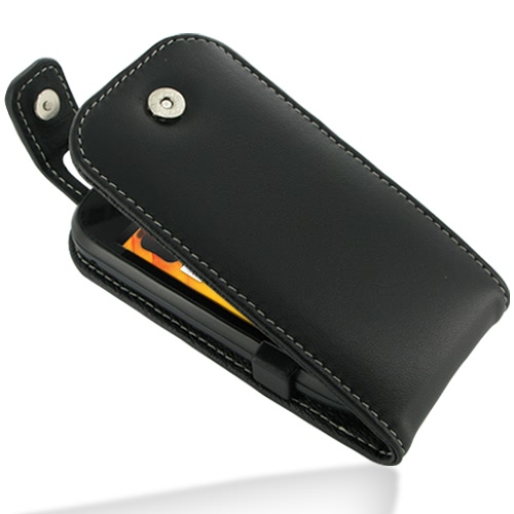 best sneakers b75f0 945f8 Leather Flip Top Case for Nokia 701 (Black)
