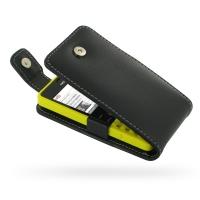 Nokia Asha 210 Leather Flip Top Case PDair Premium Hadmade Genuine Leather Protective Case Sleeve Wallet
