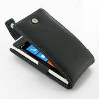 Nokia Lumia 900 Leather Flip Top Case PDair Premium Hadmade Genuine Leather Protective Case Sleeve Wallet