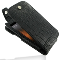 Leather Flip Top Case for Samsung Galaxy Nexus GT-i9250 SCH-i515 (Black Crocodile Pattern)
