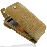 Leather Flip Top Case for Samsung Galaxy Nexus GT-i9250 SCH-i515 (Brown Crocodile Pattern)