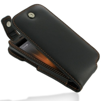 Leather Flip Top Case for Samsung Galaxy Nexus GT-i9250 SCH-i515 (Orange Stitch)