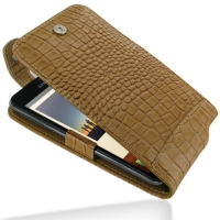 Leather Flip Top Case for Samsung Galaxy Note GT-N7000 (Brown Crocodile Pattern)