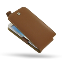 Leather Flip Top Case for Samsung Galaxy Note 2 | Samsung Galaxy Note2 | GT-N7100 (Brown)