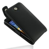Samsung Galaxy R Leather Flip Top Case (Black) PDair Premium Hadmade Genuine Leather Protective Case Sleeve Wallet