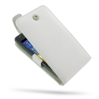 Samsung Galaxy R Leather Flip Top Case (White) PDair Premium Hadmade Genuine Leather Protective Case Sleeve Wallet