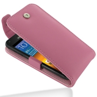 Leather Flip Top Case for Samsung Galaxy S II Epic 4G Touch SPH-D710 (Petal Pink)