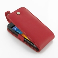 Leather Flip Top Case for Samsung Galaxy S II Epic 4G Touch SPH-D710 (Red)