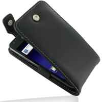 Leather Flip Top Case for Samsung Galaxy S II LTE SGH-i727R (Black)