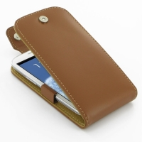 Leather Flip Top Case for Samsung Galaxy S III S3 GT-i9300 (Brown)