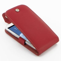 Leather Flip Top Case for Samsung Galaxy S III S3 GT-i9300 (Red)